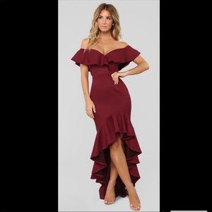 NWT! Fashion Nova Off Shoulder Mermaid Party Dress